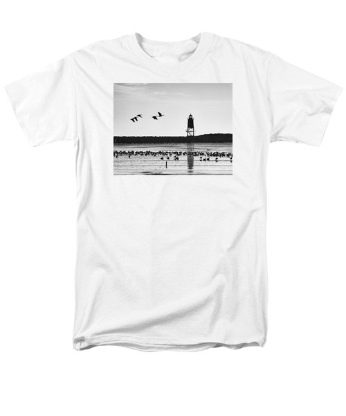 Men's T-Shirt  (Regular Fit) featuring the photograph Morning At Racine Lakefront by Ricky L Jones