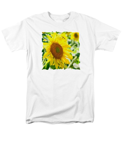 Men's T-Shirt  (Regular Fit) featuring the photograph Morning Glory Farm Sun Flower by Vinnie Oakes