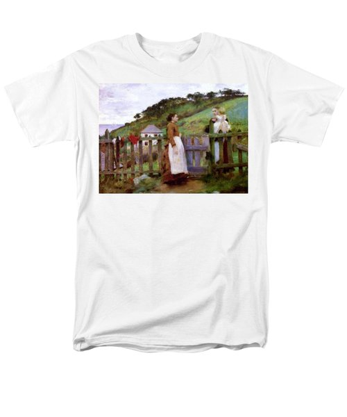 Men's T-Shirt  (Regular Fit) featuring the painting Morning Gossip by Henry Scott Tuke