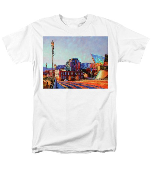 Morning Rush - The Corner Of Salem Avenue And Williamson Road In Roanoke Virginia Men's T-Shirt  (Regular Fit) by Bonnie Mason