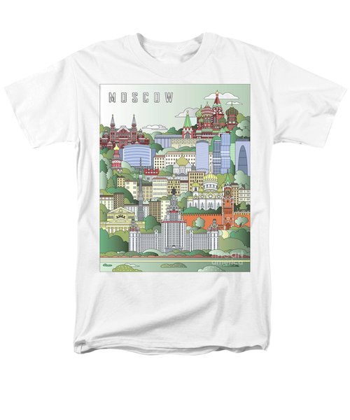 Moscow City Poster Men's T-Shirt  (Regular Fit) by Pablo Romero