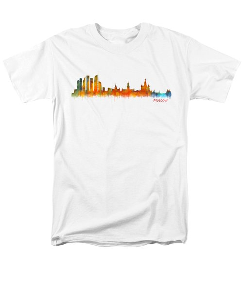 Moscow City Skyline Hq V2 Men's T-Shirt  (Regular Fit)
