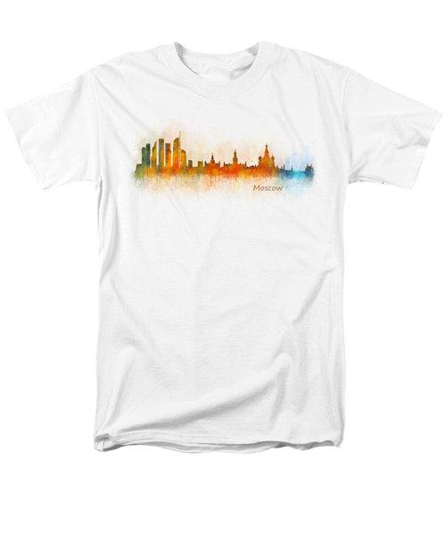 Moscow City Skyline Hq V3 Men's T-Shirt  (Regular Fit)