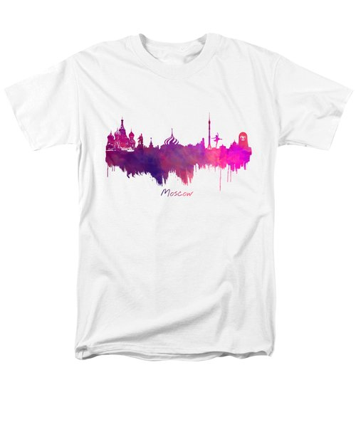 Moscow Russia Skyline Purple Men's T-Shirt  (Regular Fit) by Justyna JBJart