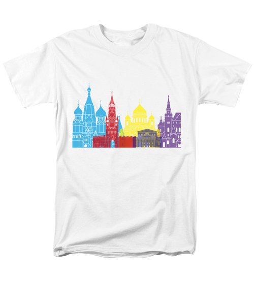 Moscow Skyline Pop Men's T-Shirt  (Regular Fit) by Pablo Romero