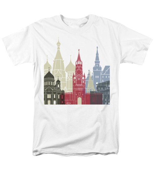 Moscow Skyline Poster Men's T-Shirt  (Regular Fit) by Pablo Romero