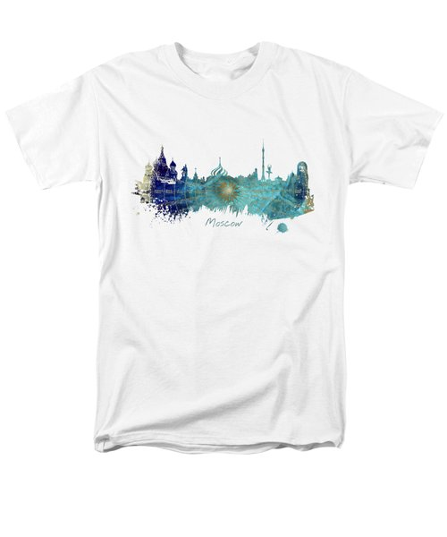 Moscow Skyline Wind Rose Men's T-Shirt  (Regular Fit) by Justyna JBJart