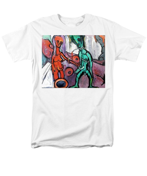 Men's T-Shirt  (Regular Fit) featuring the painting Mother-giant--offspring by Kenneth Agnello