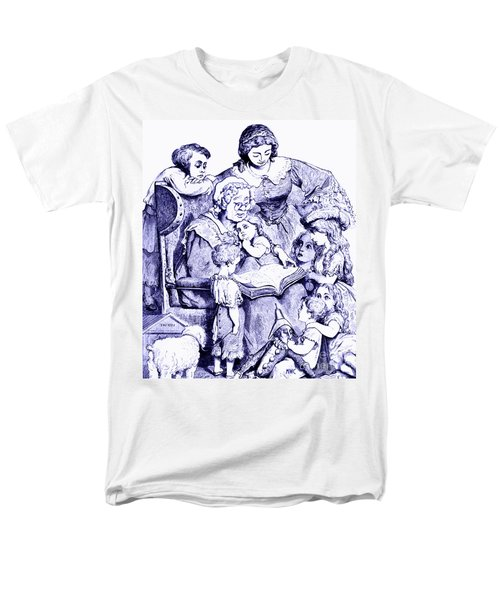 Mother Goose Reading To Children Men's T-Shirt  (Regular Fit)