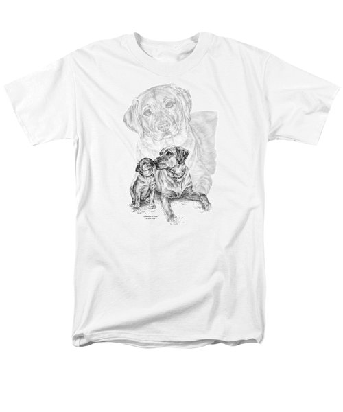 Mother Labrador Dog And Puppy Men's T-Shirt  (Regular Fit) by Kelli Swan