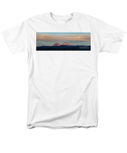 Mount Aragats, The Highest Mountain Of Armenia, At Sunset Under Beautiful Clouds Men's T-Shirt  (Regular Fit) by Gurgen Bakhshetsyan