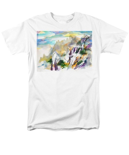 Mountain Awe #2 Men's T-Shirt  (Regular Fit) by Betty M M Wong
