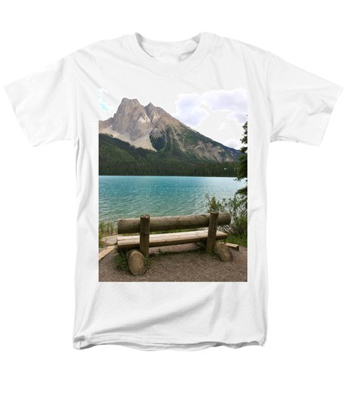 Mountain Calm Men's T-Shirt  (Regular Fit) by Catherine Alfidi
