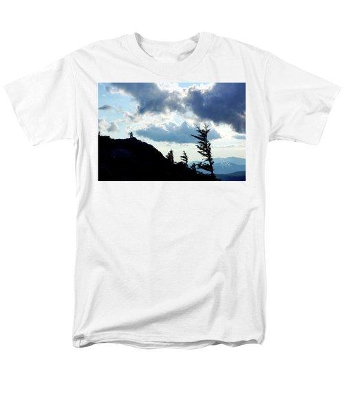 Men's T-Shirt  (Regular Fit) featuring the photograph Mountain Peak by Meta Gatschenberger