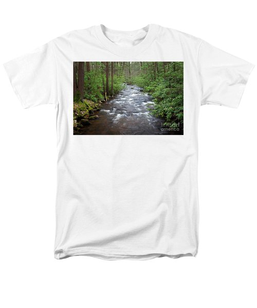Men's T-Shirt  (Regular Fit) featuring the photograph Mountain Stream Laurel by John Stephens