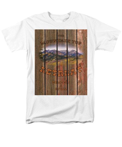 Mountain Top Retreat Men's T-Shirt  (Regular Fit)