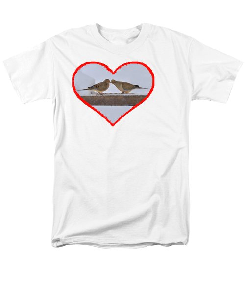 Mourning Doves Kissing Men's T-Shirt  (Regular Fit) by Dan Friend