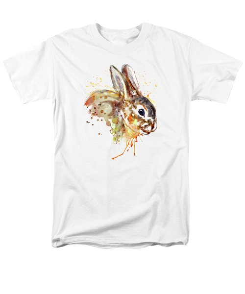 Men's T-Shirt  (Regular Fit) featuring the mixed media Mr. Bunny by Marian Voicu