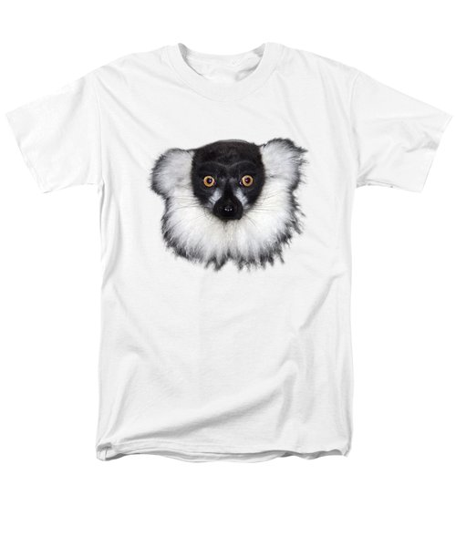 Mr Lemur On Transparent Background Men's T-Shirt  (Regular Fit) by Terri Waters