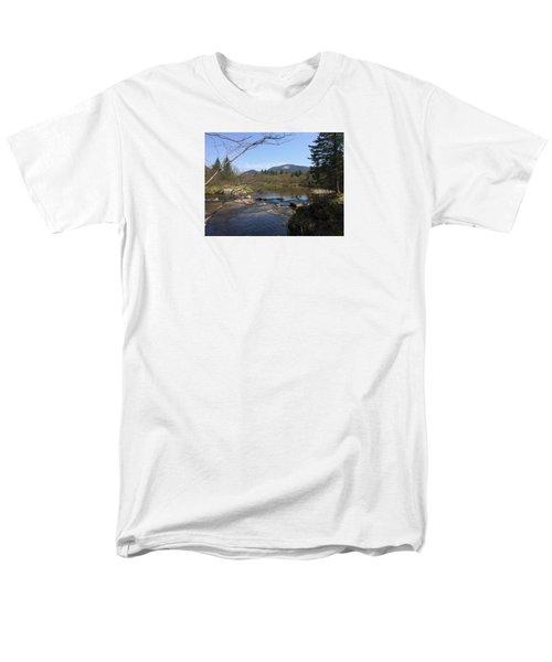 Mt. Katahdin Men's T-Shirt  (Regular Fit) by Robin Regan