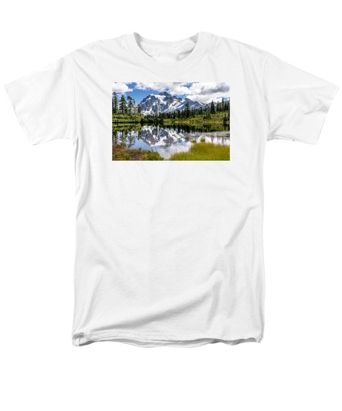 Men's T-Shirt  (Regular Fit) featuring the photograph Mt Shuksan On Picture Lake 1 by Rob Green