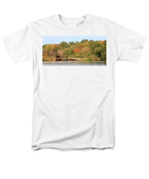 Murphy Mill Dam/bridge Men's T-Shirt  (Regular Fit) by Jerry Battle