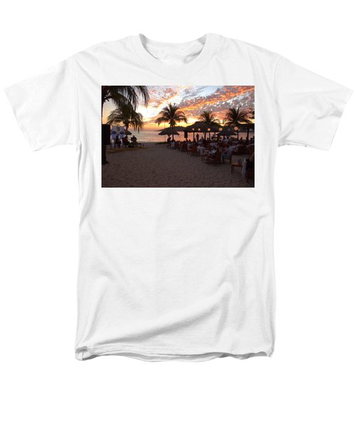 Music And Dining On The Beach Men's T-Shirt  (Regular Fit) by Jim Walls PhotoArtist