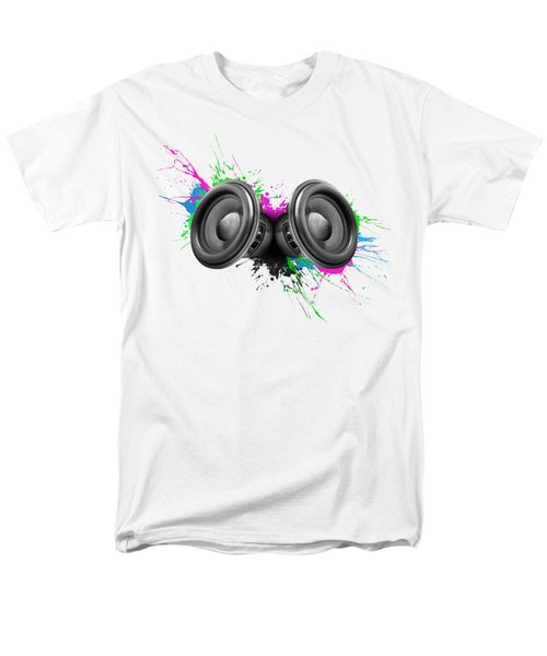 Music Speakers Colorful Design Men's T-Shirt  (Regular Fit) by Johan Swanepoel