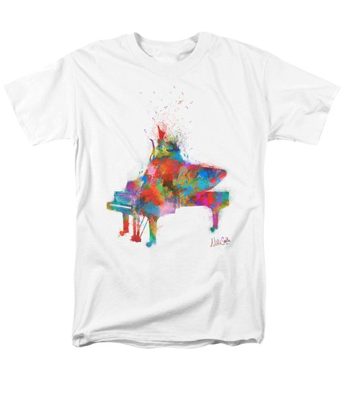 Men's T-Shirt  (Regular Fit) featuring the digital art Music Strikes Fire From The Heart by Nikki Marie Smith