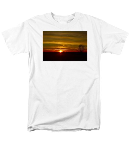 Men's T-Shirt  (Regular Fit) featuring the photograph My First 2016 Sunset Photo by Dacia Doroff