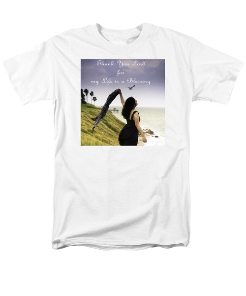 My Life A Blessing Men's T-Shirt  (Regular Fit) by Leticia Latocki