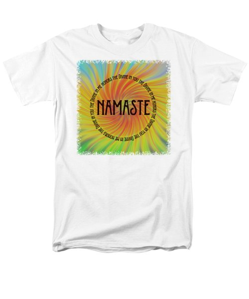 Namaste Divine And Honor Swirl Men's T-Shirt  (Regular Fit) by Terry DeLuco
