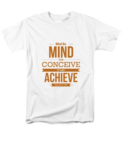 Napoleon Hill Typography Art Quotes Poster Men's T-Shirt  (Regular Fit)