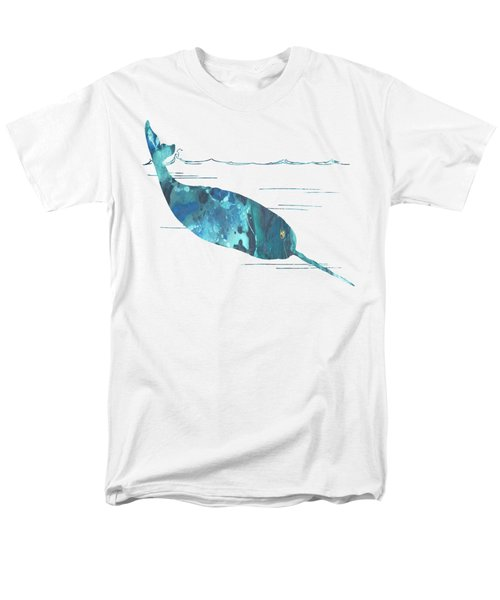 Narwhal Men's T-Shirt  (Regular Fit) by Mordax Furittus