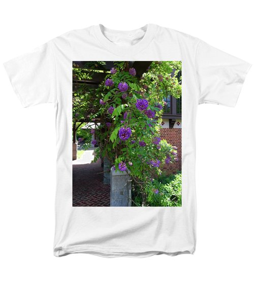 Men's T-Shirt  (Regular Fit) featuring the painting Native Wisteria Vine I by Angela Annas