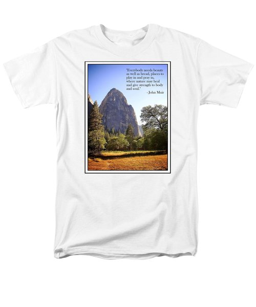 Men's T-Shirt  (Regular Fit) featuring the photograph Natures Cathedral by Glenn McCarthy Art and Photography