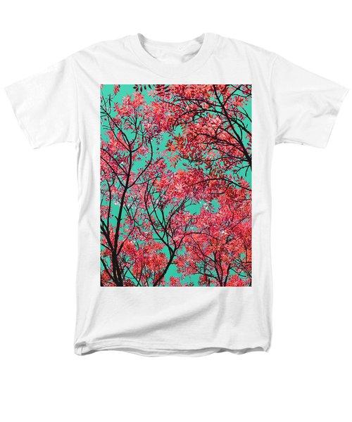 Natures Magic - Fire Red Men's T-Shirt  (Regular Fit) by Rebecca Harman