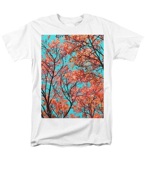 Natures Magic - Orange Men's T-Shirt  (Regular Fit) by Rebecca Harman