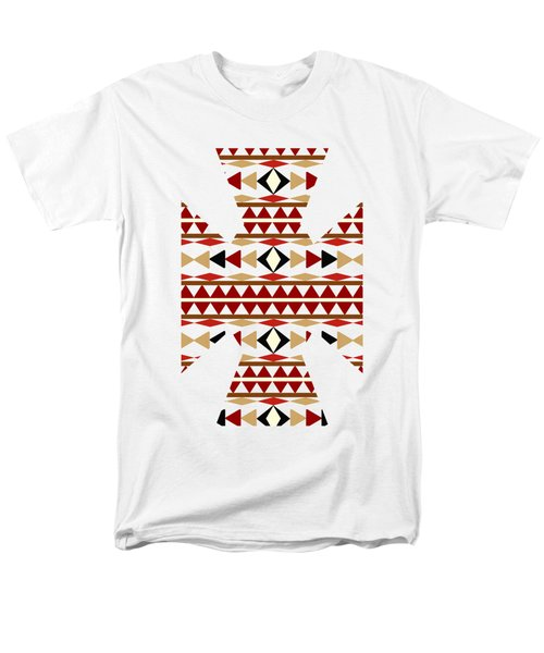 Navajo White Pattern Art Men's T-Shirt  (Regular Fit) by Christina Rollo