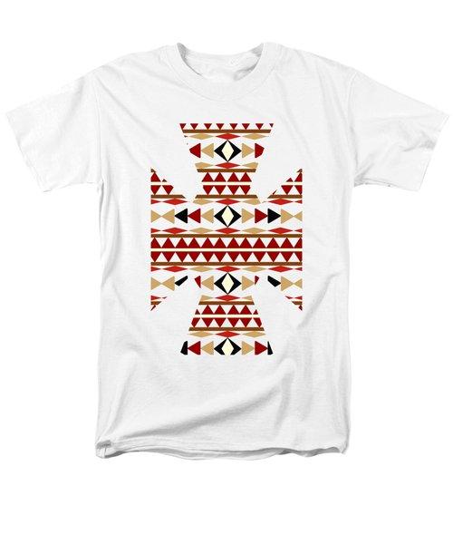Navajo White Pattern Art Men's T-Shirt  (Regular Fit)