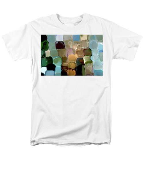 Neutrals In Light Abstract Men's T-Shirt  (Regular Fit) by Haleh Mahbod