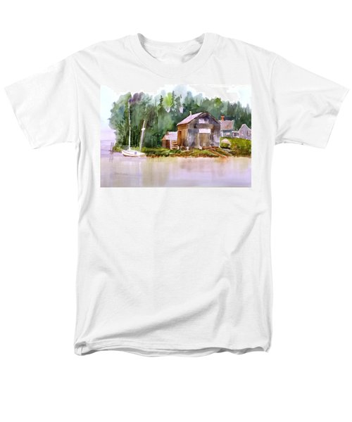 New England Boat Repair Men's T-Shirt  (Regular Fit) by Larry Hamilton