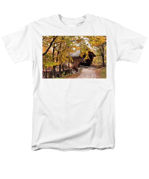 New England College No. 63 Covered Bridge  Men's T-Shirt  (Regular Fit) by Betty Pauwels