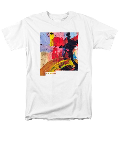 New Mexico Map Art - Painted Map Of New Mexico Men's T-Shirt  (Regular Fit) by World Art Prints And Designs