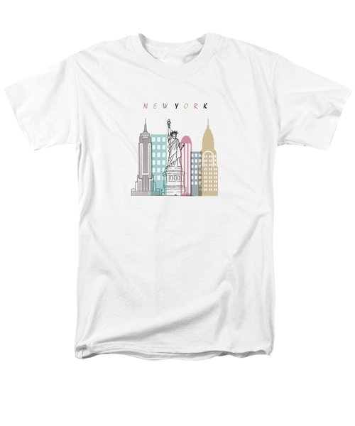 New York  Minimal  Men's T-Shirt  (Regular Fit) by Mark Ashkenazi