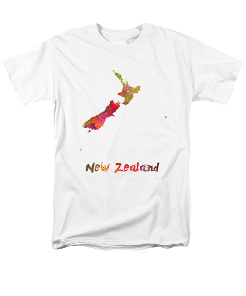 New Zealand In Watercolor Men's T-Shirt  (Regular Fit) by Pablo Romero