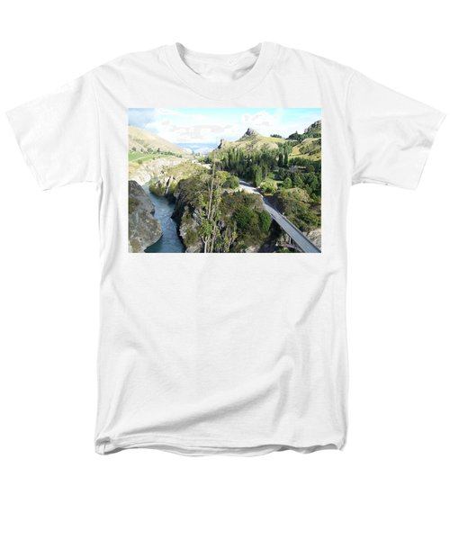 New Zealand Scene Men's T-Shirt  (Regular Fit) by Constance DRESCHER