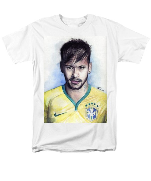 Neymar Men's T-Shirt  (Regular Fit) by Alban Dizdari