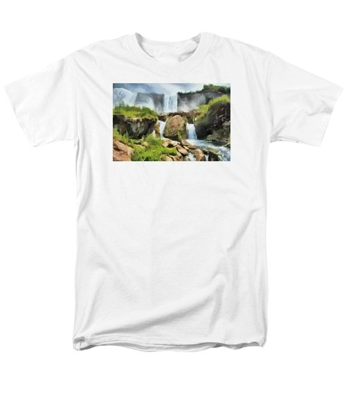 Niagara Falls Cave Of The Winds Men's T-Shirt  (Regular Fit) by Charmaine Zoe