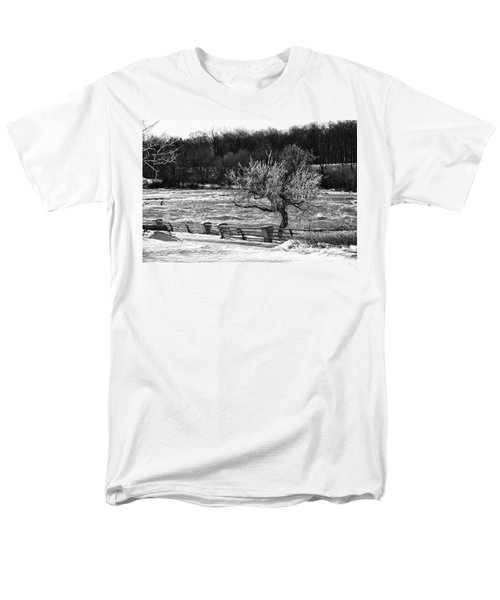 Men's T-Shirt  (Regular Fit) featuring the photograph Niagara Falls Ice 4514 by Guy Whiteley